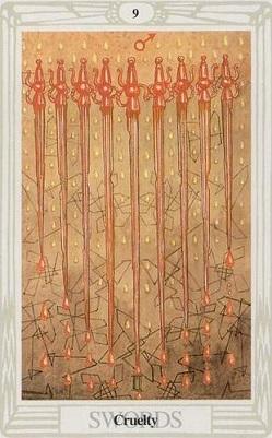 Małe Arkana - Dziewiątka Mieczy
